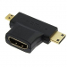 Разъем: HDMI F to Mini HDMI + Micro HDMI